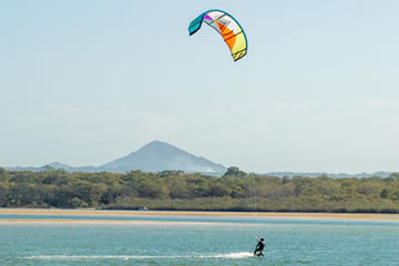 Kite Surf At The River Mouth